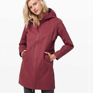 Lululemon Rain Rebel Jacket *Cotton - Chianti